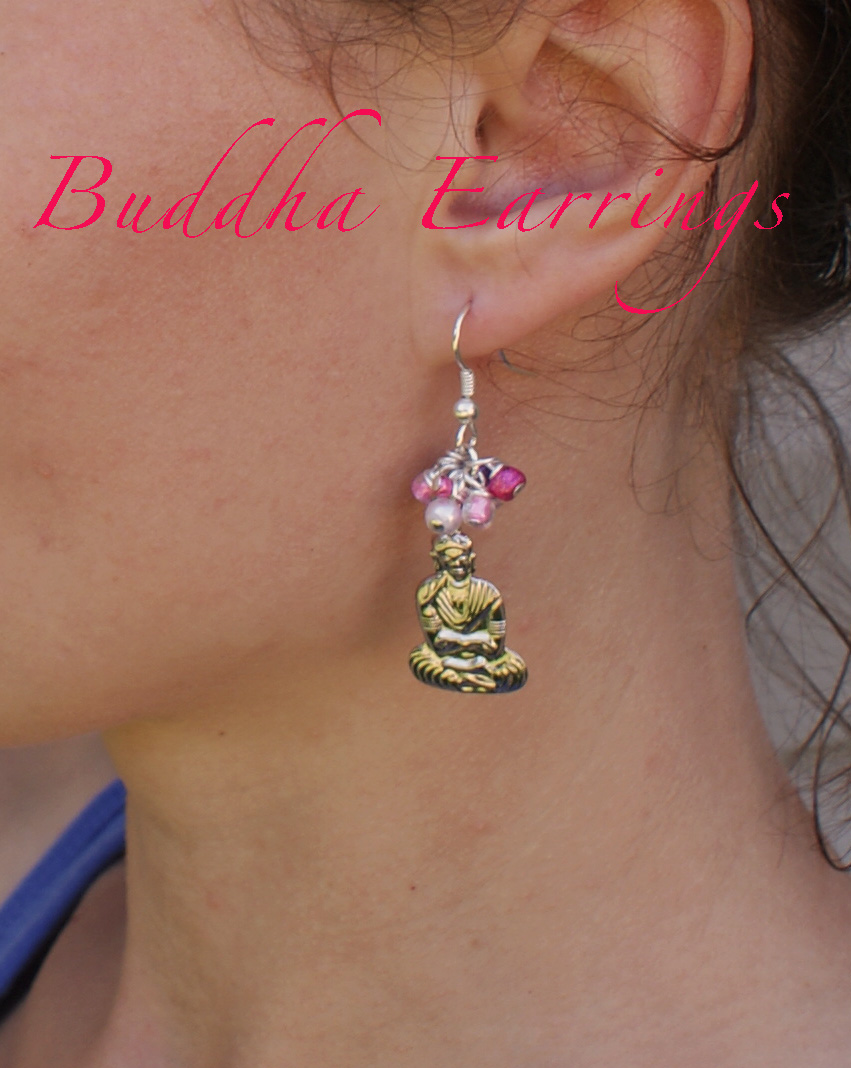 diy buddha earrings